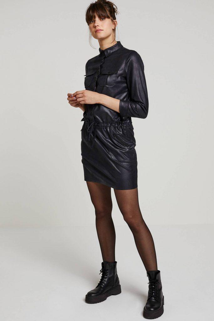 geisha-imitatie-leren-jurk-zwart-zwart-8719937321318