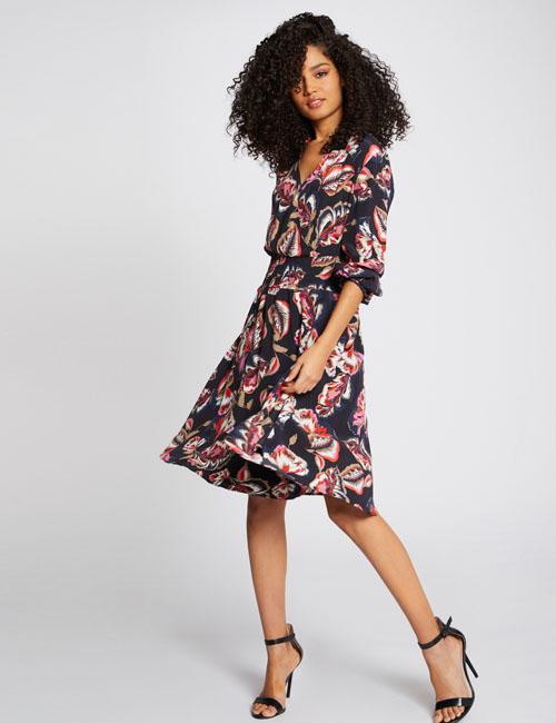 robe-evasee-imprime-vegetal-multico-femme-d2-32536300801890900